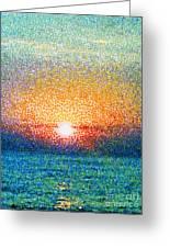 Dawn On A Caspian Sea Greeting Card