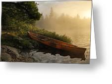 Dawn On Boot Lake Greeting Card