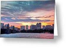 Dawn On The Charles River Greeting Card by Susan Cole Kelly