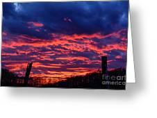 Dawn On The Farm Greeting Card