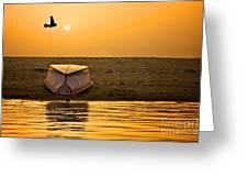 Dawn On The Ganga Greeting Card