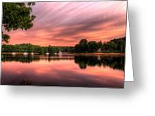 Dawn On The Saco River Greeting Card by David Bishop