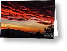 Dawn Over Big Spruce Knob Greeting Card