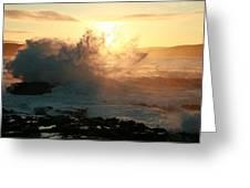 Dawn Porpoise Bay Nz. Greeting Card
