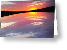 Dawn Sky And Water Greeting Card