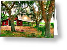 Dawning At The Barn Greeting Card