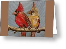 Dawn's Cardinals Greeting Card