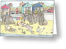Day At The Felixstowe Hilton. Greeting Card