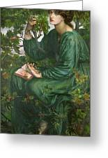 Day Dream Greeting Card by Dante Charles Gabriel Rossetti