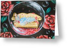 Day Dreaming In My Bubble Greeting Card
