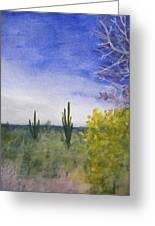 Day In Arizona Desert Greeting Card