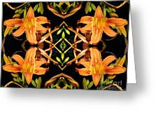 Day Lily Square Dance Greeting Card
