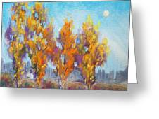 Day Lit Moon Greeting Card by Christine Camp