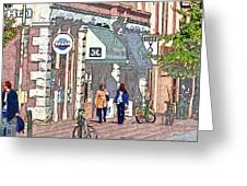 Day Of Shopping Greeting Card by Dale Stillman