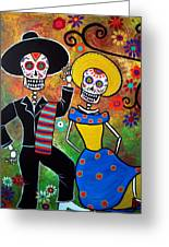 Day Of The Dead Bailar Greeting Card