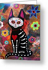 Day Of The Dead Cat El Gato Greeting Card