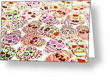 Day Of The Dead Colors Greeting Card
