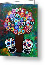 Day Of The Dead Love Offering Greeting Card