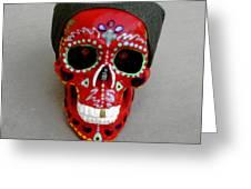 Day Of The Dead Skulls-biker Dude Greeting Card