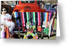 Day Of The Dead Truck Decorations  Greeting Card