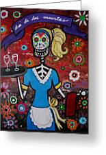 Day Of The Dead Waitress Greeting Card