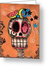 Day Of The Dead Watermelon Greeting Card