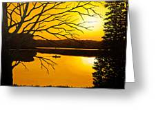 Day On The Lake Greeting Card