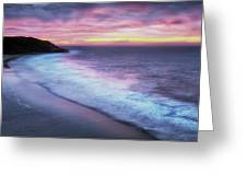 Daybreak At Caswell Bay Greeting Card