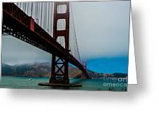 Daybreak At The Golden Gate Greeting Card