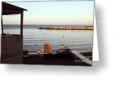 Daybreak At The Sea Greeting Card