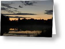 Daybreak In Gold Greeting Card