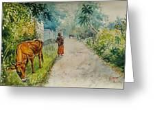 Daybreak In Kerala Greeting Card