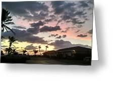 Daybreak Sky In Florida Greeting Card