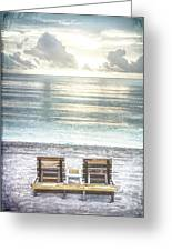 Daydreaming By The Sea In Watercolors Greeting Card