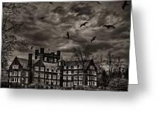 Daydreams Darken Into Nightmares Greeting Card