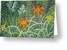 Daylilies And Yucca Greeting Card