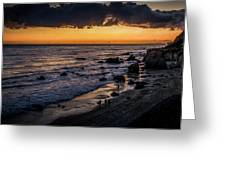 Days End At El Matador Greeting Card