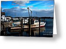 Days End At The Dock Greeting Card