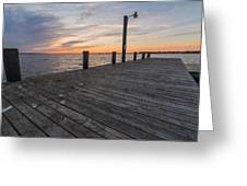Days End Dock Greeting Card