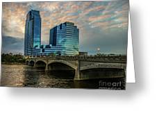 Days End In Grand Rapids Greeting Card