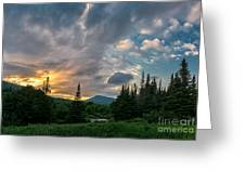 Days End In The Bog Greeting Card