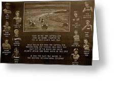 Daytona 200 Plaque Greeting Card
