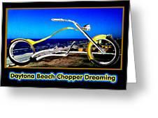 Daytona Beach Chopper Dreaming Yellow Gold Jgibney The Museum Greeting Card