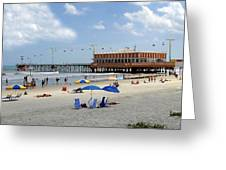 Daytona Beach Pier Greeting Card