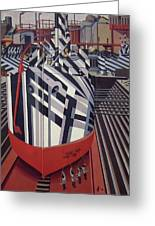 Dazzle Ships In Drydock At Liverpool Greeting Card