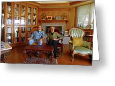 Db6362 Ed Cooper With Fred Beckey In Library 2013 Greeting Card