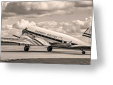 Dc-3 Vintage Look Greeting Card