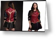 Dc Comics Wonder Woman Jacket Greeting Card