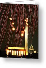 Dc Fireworks Greeting Card