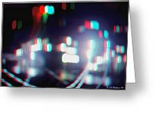 Dc Lights - Use Red-cyan 3d Glasses Greeting Card